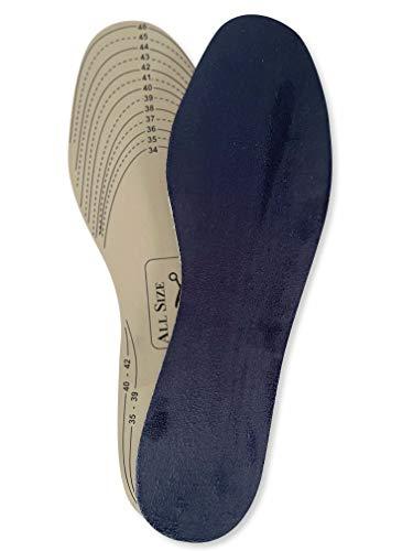 Memory Cleanfeet Sohle, Fußbett mit Memory Effekt, natürlich gegen Geruch, Gr. 34-47 zuschneidbar