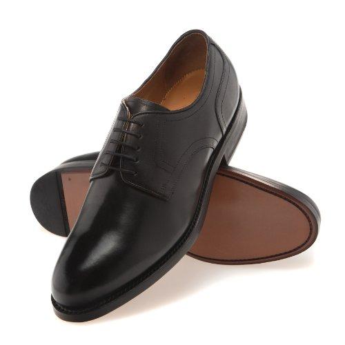 Gordon & Bros Levet 4365, rahmengenähte Herren Business Schuhe/Schnürhalbschuhe (Derby) mit Ledersohle, Schwarz (black), EU 41