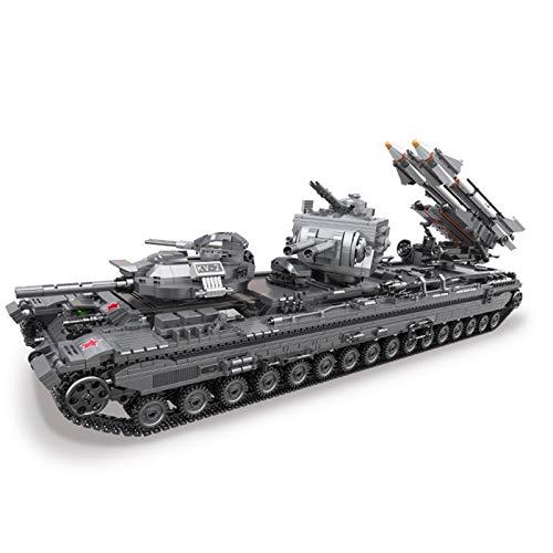 SESAY Tanque de construcción de bloques de construcción, 3663 piezas, técnica militar WW2 KV-2, tanque compatible con la técnica Lego.