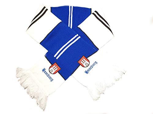 Familienkalender Schal Fanschal Städteschal Hamburg Fussball Bundesliga Fan Sports blau-weiß