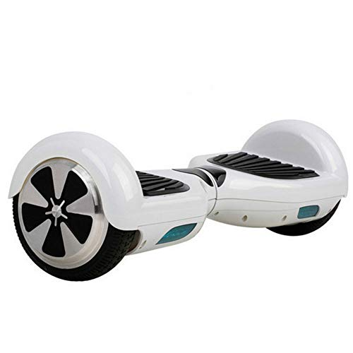 YUEN 6.5 Inch Hoverboards Self Balancing Electric Scooter with Bluetooth and LED Light Motor 500W Best Gifts for Kids,White