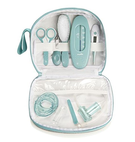 Babymoov Baby-Kulturtasche – Pflege-Set für Babys 9-teilig, mit digitalem Fieberthermometer, Nasensauger - 3