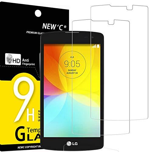 NEW'C 2 Stück, PanzerglasFolie Schutzfolie für LG L Bello, D331, Frei von Kratzern Fingabdrücken & Öl, 9H Festigkeit, HD Bildschirmschutzfolie, 0.33mm Ultra-klar, Ultrawiderstandsfähig