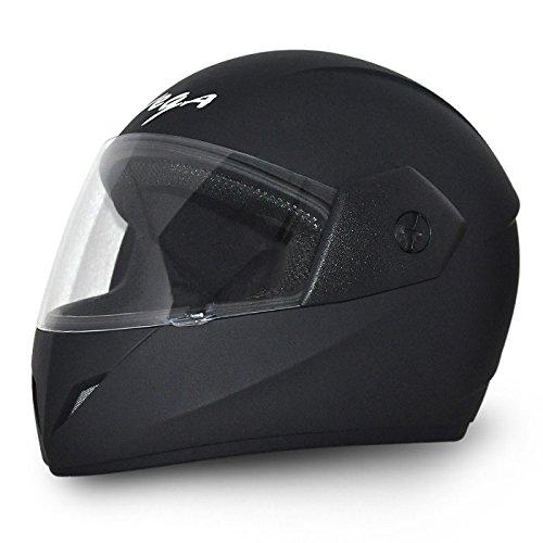 Vega Cliff DX CLF-DX-DK_M Full Face Helmet (Dull Black, Medium)