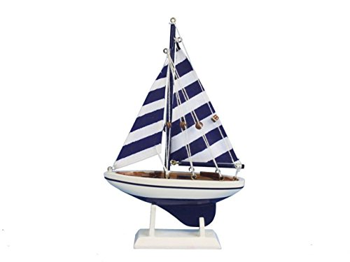 Hampton Nautical Blue Striped Pacific Sailer, 9""