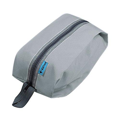 Sac de voyage étanche multifonction multifonction avec poignée de sac à main organisateur de sacs à main pour articles de toilette, linge de chaussures, sac de rangement grand espace (gris)