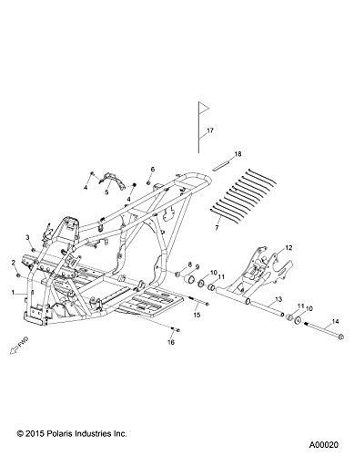 Polaris Swing Arm Assembly, Medium Gloss Medium Gloss Black, Genuine OEM Part 0455012-067, Qty 1