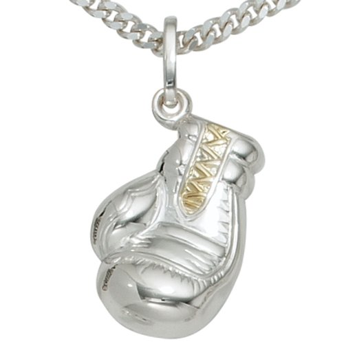 JOBO Anhänger Boxhandschuh 925 Sterling Silber rhodiniert teilvergoldet