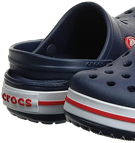 Crocs Crocband Clog Kids Unisex Niños Zuecos, Azul (Navy/Red), 30/31 EU