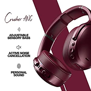 Skullcandy Crusher ANC Personalized Noise Canceling Wireless Headphone - Deep Red