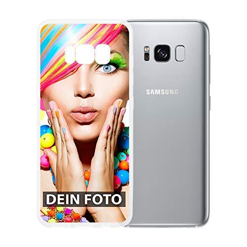 dP deinPhone Samsung Galaxy S8 - Handyhülle - Selbst gestalten/Individuell bedruckbar/eigenem Foto oder Text/Silikonhülle Transparent
