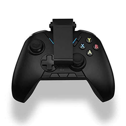 Manette de Jeu sans Fil Bluetooth 2.4G sans Fil 6-Axis Flymapping Gamepad Jeu Divertissement for PUBG Jeu Mobile Noir contrôleur Joystick (Color : Black, Size : One Size)