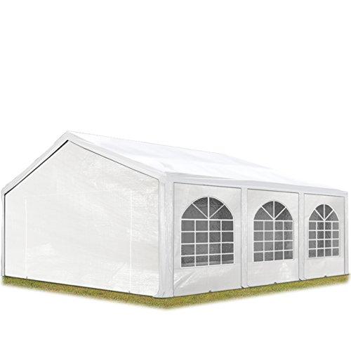 TOOLPORT Hochwertiges Partyzelt 5x6 m Pavillon Zelt 240g/m² PE Plane Gartenzelt Festzelt Wasserdicht weiß