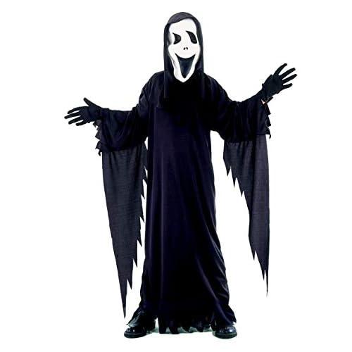 Ciao Costume Black Ghost tg.L (7-9 anni) Bambini unisex, Nero, 61019.L