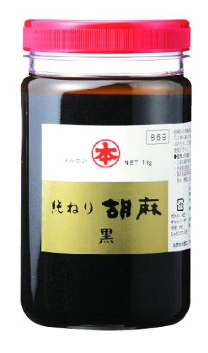 竹本油脂 マルホン 純ねり胡麻 黒 1Kg [6347]