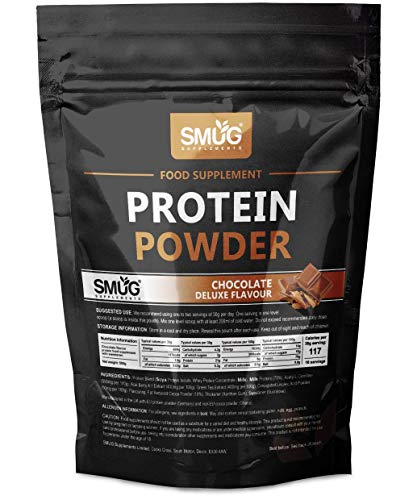 Low Calorie Protein Powder by SMUG Supplements | Choose from Banana, Chocolate, Strawberry and Vanilla | Diet Protein Shake Only 117 Calories | Low Carb & Keto - 4.2 Carbs (Chocolate Deluxe (1KG))