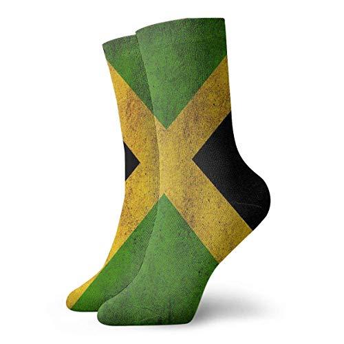 QUEMIN Bandera jamaicana Hombres Mujeres Calcetines deportivos Algodn casual Calcetines largos Novedad Funky Regalos Calcetines unisex Calcetines de sudor Calcetines transpirables