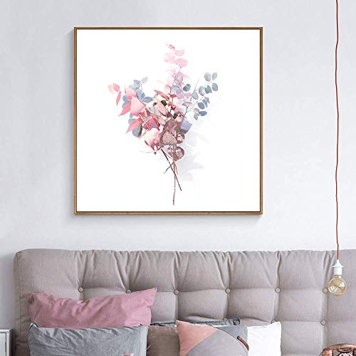 wall26 Floating Framed Canvas Wall Art for Living Room, Bedroom Vintage Flower Abstract Colorful Painting Canvas Prints for Home Decoration Ready to Hang - 24x24 inches