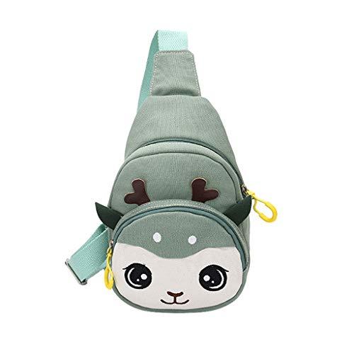 BEECM Crossbody Bags Soft Lightweight Canvas Cute Fawn Coin Purse Shoulder Messenger Casual Bags for Girls Teens Women