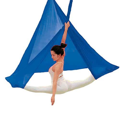 Yontree Yoga Hängematte Set Anti-Gravity-Schwingen Aerial Yoga Fitness Tuch 500 * 280cm (knallblau)