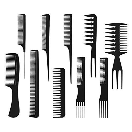 Pixnor 10ST Profi Hair Styling Kämme-Friseur-Zubehör-Geräte-Set