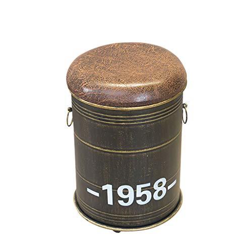 Chaise Industrielle de Tabouret de Fer d'art de Vent pour la Combinaison de Table et de Sofa de Tambour d'huile de café de café LI Jing Shop (Couleur : No backrest Chair)