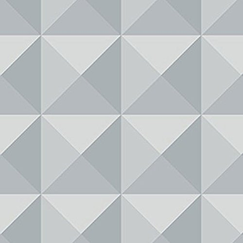 3D Geometric Wallpaper Modern Luxury Grey Charcoal Futuristic Paste The Paper