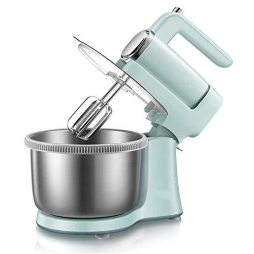 WZHZJ Tête inclinable Batteur électrique Mixeur en Acier Inoxydable Bol, Maison Cuisine entièrement Automatique Petit Chef Machine, Fouet, pâte Mixer