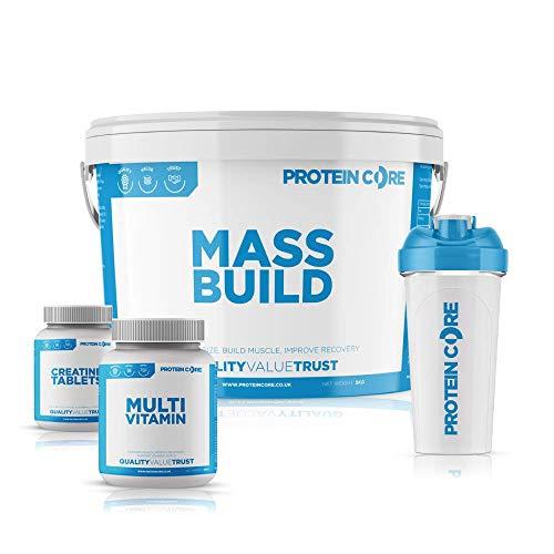 Mass Build Weight Gainer Powder Free Creatine + Vitamin Tablets + Shaker Muscle Builder (Vanilla Ice Cream)