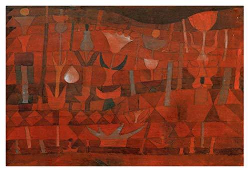 JH Lacrocon Peintures à la Main Jardin des Fleurs Indiennes 1922 Von Paul Klee - 120X80 cm Reproduction Toile Abstraite Poster Roulée
