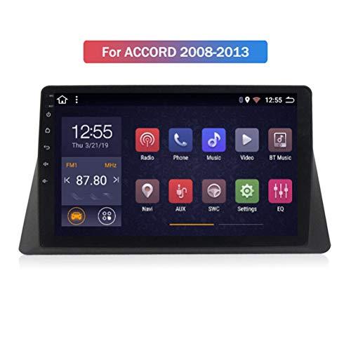 HP CAMP Android 9.1 8 Core Autoradio für Honda Accord 2008-2013, Supporta la Fotocamera di Backup/Microfono/CarPlay/DSP/Bluetooth 5.0 / SWC/mappe Offline Online,4g WiFi 2g+32g