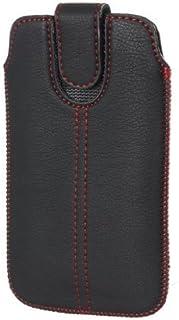 F. Redstripe–Funda Protectora para Cubot X9–Funda Protectora Slim Case Funda Negro con Cierre de Velcro