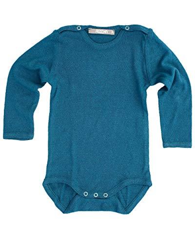 Alkena - Body de Manga Larga para bebés y niños pequeños, 100% Seda bourrette Azul Zafiro 6 Mes