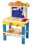 Lelin 31806 Toys-Wooden Workbench, Blue