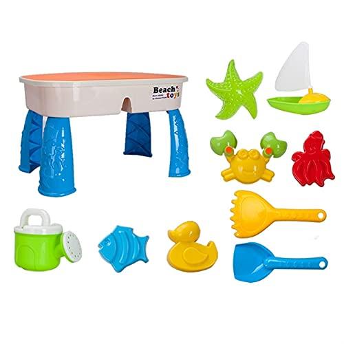 XMEIFEI PARTS Juego de Mesa de Arena y Agua con Tapa de Tapa Juguetes de Playa Jardín al Aire Libre Jardín de Arena de jardín para niños Playa de Verano para niños pequeños by (Color : White)