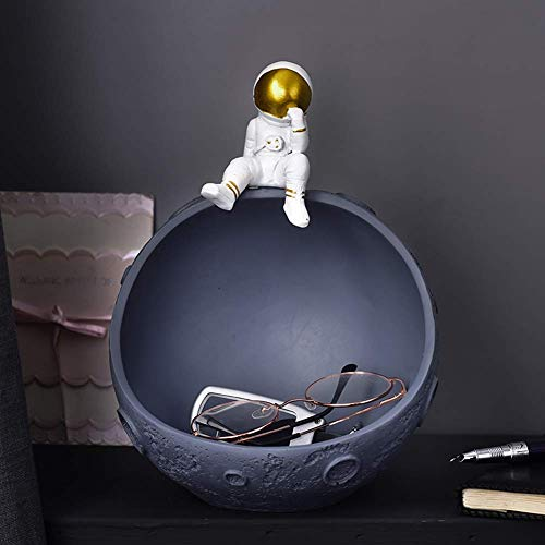 Decoración de Adornos, decoración de Estatua de Regalo Domestica para el Astronauta Adornos creativos para Guardar Llaves, decoración del hogar