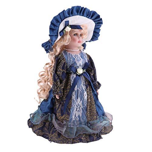 HTYG Muñecas Antiguas de Porcelana de 30 cm-miniaturas de M