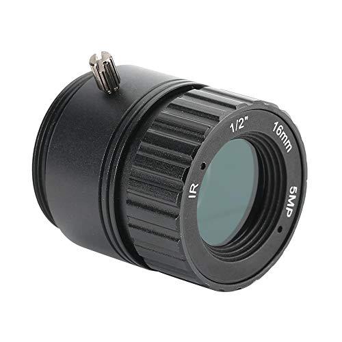 Obiettivo della fotocamera, obiettivo fisso da 16 mm 5 MP, supporto pixel ad alta definizione, attacco CS, obiettivo focale fisso adatto alla maggior parte dei modelli di telecamere di sicurezza