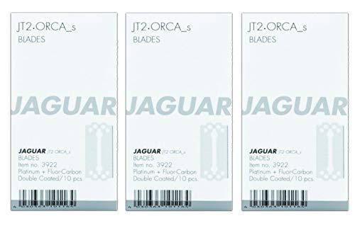 3er Set Jaguar Rasiermesser Klingen JT2 und Orca S kurz 10er Pack = 30 Stück