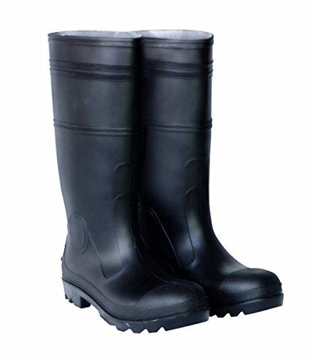 CLC Custom Leathercraft R23010 Over The Sock Black PVC Men's Rain Boot, Size 10