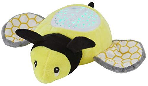 Northpoint LED Plüschtier Sternenprojektor Nachtlicht mit 13 Schlummermelodien/waschbar/Lautstärke einstellbar (Biene)