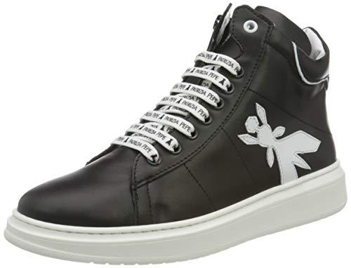Patrizia Pepe PPJ516 Sneaker, Black + White, 40/40.5 EU