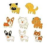 Gouen Cartoon Enamel Pins Set Fairy Tale Brooches Denim Coat Backpack Lapel Pin Badge Cute Animal Jewelry Gift,set3