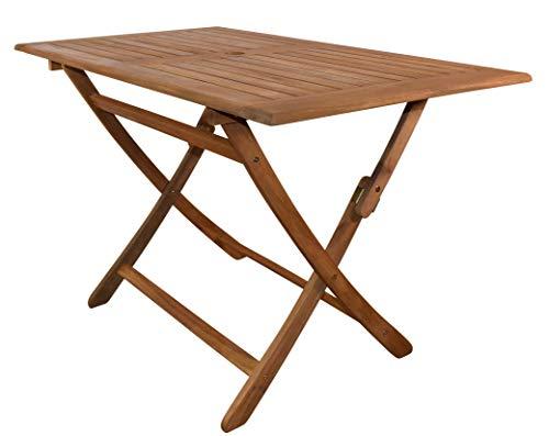 SAM Gartentisch Callao, Tisch 120x70 cm, Akazien-Holz, rechteckiger Balkontisch, massiv