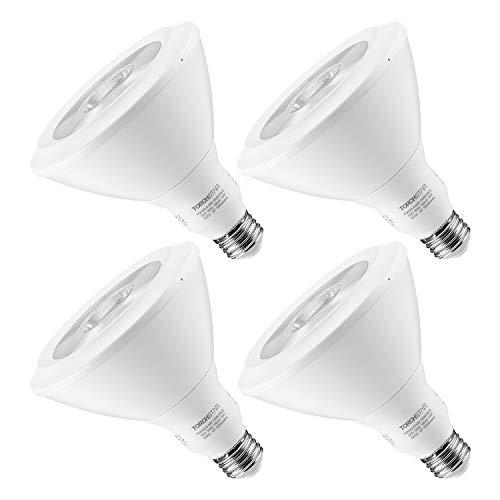 TORCHSTAR Dimmable PAR38 LED Flood Light Bulb, 16.5W 120W Equiv, Ultra Bright 1230Lm, 3000K Warm White, E26 Medium Screw Base, Energy Star & UL Listed Spotlight, 3 Years Warranty