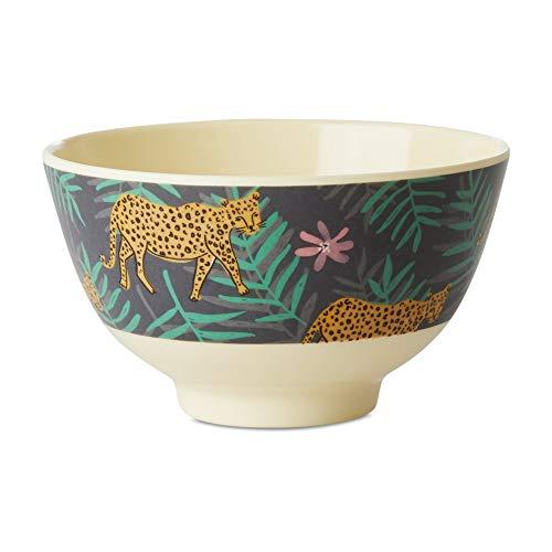 Rice Melamin Schale Schüssel mit Leoparden und Palmen Muster - 15 cm Durchmesser