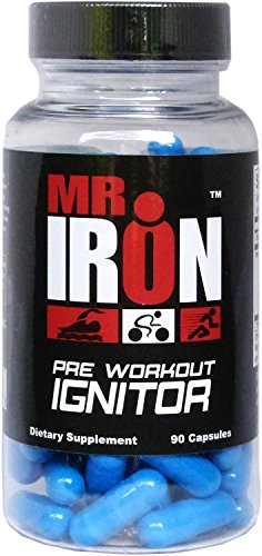 Mr IRON Pre Workout Ignitor 90 Capsules - Best Preworkout Energy Supplement Pills That Work Fast