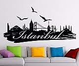 jiuyaomai Wandtattoo Logo Türkei Silhouette Landschaft Wort Stadt Aufkleber Home Room Interior...