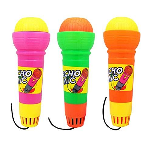TOYANDONA 3pcs Juguetes Musicales con micrófono de Eco para niños niños (no se Necesita batería, Color Mezclado)