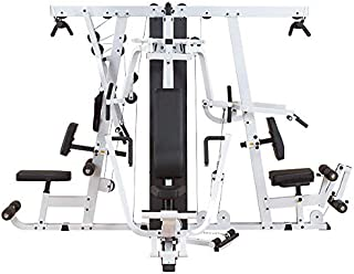Body Solid EXM4000S Ultimate Triple Stack Gym, Grey/Black